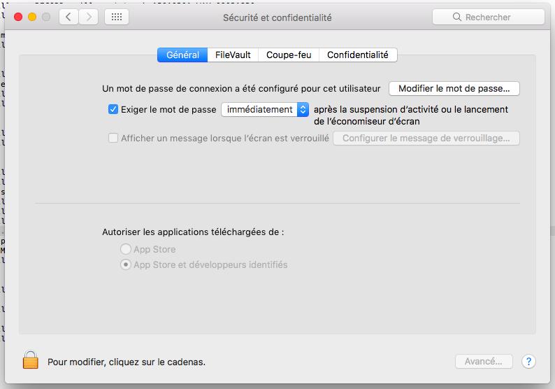 Avec macOS Sierra : l'option a disparu...